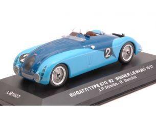 Ixo model LM1937 BUGATTI 57 G N.2 WINNER LE MANS 1937 WIMILLE-BENOIST RE-EDITION 1:43 Modellino