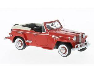 Neo Scale Models NEO47065 WILLYS JEEPSTER RED 1948 1:43 Modellino