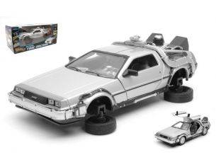 Welly WE22441FV DE LOREAN RITORNO AL FUTURO 2 FLYING WHEEL VERSION 1:24 Modellino