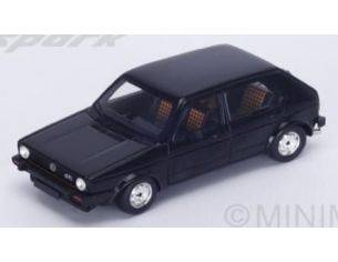 Spark Model S3209 VW GOLF GTI 1976 4-DOORS BLACK 1:43 Modellino