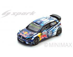 Spark Model S4971 VW POLO R WRC N.1 2nd RALLY AUSTR.2016 LAST RACE WC OGIER-INGRASSIA 1:43 Modellino