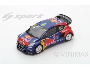 Spark Model S5198 PEUGEOT 208 WRX N.21 WINNER WORLD RX OF FRANCE 2016 TIMMY HANSEN 1:43 Modellino