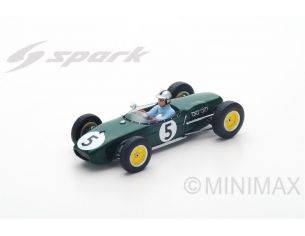 Spark Model S5342 LOTUS 18 A.STACEY 1960 N.5 RETIRED DUTCH GP 1:43 Modellino