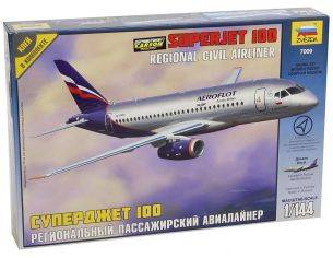 Zvezda 7009 Sukhoi Superjet 100 - Civil Airliner 1:144 Kit Modellino