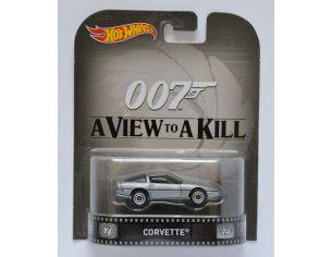 Hot Wheels HWCFR21 CHEVROLET CORVETTE 007 A VIEW TO KILL 1:64 Modellino
