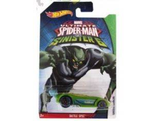Hot Wheels HWCMJ79BA BATTLE SPEC SPIDERMAN VS SINISTER 6 1:64 Modellino