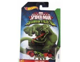 Hot Wheels HWCMJ79P POWER PISTONS SPIDERMAN VS SINISTER 6 1:64 Modellino