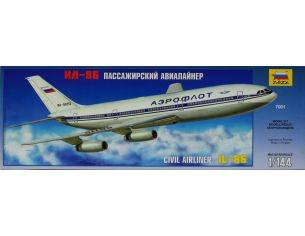 Zvezda 7001 CIVIL AIRLINER IL-86 KIT 1:144 Modellino