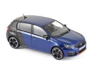 Norev NV473816 PEUGEOT 308 GTi COUPE FRANCHE 2017 MAGNETIC BLUE/BLACK 1:43 Modellino