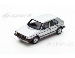 Spark Model S3213 VW GOLF GTI 1982 4 DOORS SILVER 1:43 Modellino
