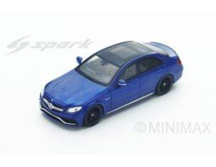 Spark Model S4913 MERCEDES AMG C 63S 2016 BLUE 1:43 Modellino