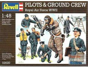 Revell 02620 PILOTS & GROUND CREW ROYAL AIR FORCE WWII 1:48 KIT Modellino