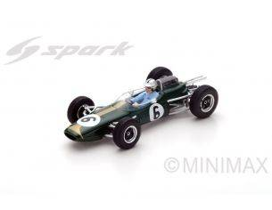 Spark Model S5249 BRABHAM BT7 JACK BRABHAM 1963 N.6 4th FRENCH GP 1:43 Modellino