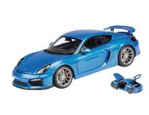 Schuco SH0402 PORSCHE CAYMAN GT4 BLUE 1:18 Modellino