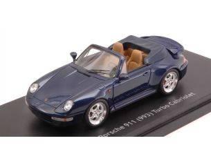 Schuco SH8917 PORSCHE 911 TURBO CABRIO 993 BLUE 1:43 Modellino