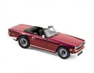 Norev NV350092 TRIUMPH TR6 1970 DAMSON RED 1:43 Modellino