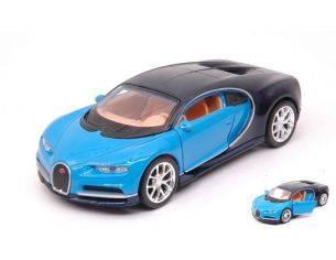 Welly WE38514E BUGATTI CHIRON BLUE/DARK BLUE cm 11 Modellino