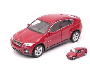 Welly WE38514G BMW X6 DARK RED cm 11 Modellino
