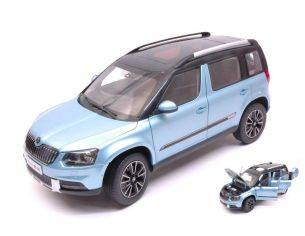 Abrex AB18033SK SKODA YETI FL OUTDOOR 2013 LIGHT BLUE METALLIC 1:18 Modellino