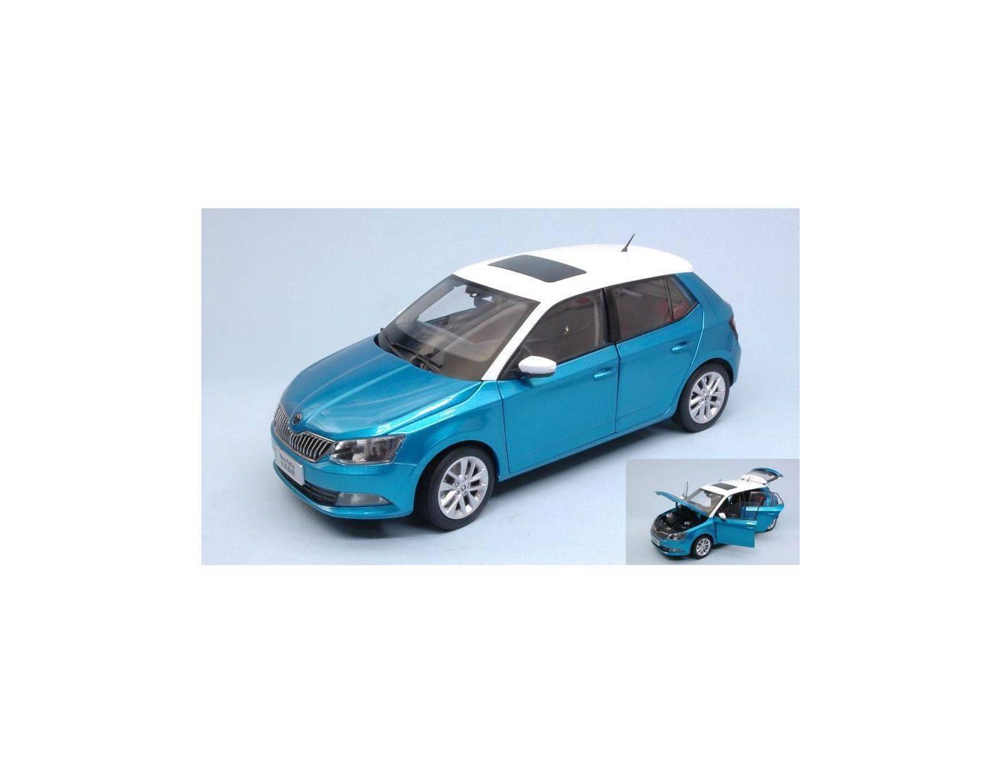 Abrex AB18034SK SKODA FABIA III 2015 BLUE METALLIC 1:18 Modellino