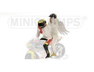 Minichamps PM312990096 FIGURA V.ROSSI 1999 + ANGEL WORLD CHAMPION 1:12 Modellino