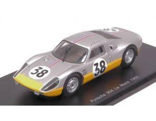 Spark Model S4683 PORSCHE 904 N.38 DNF LM 1965 J.DEWEZ-J.KERGUEN 1:43 Modellino