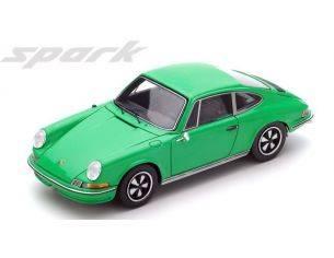 Spark Model S4925 PORSCHE 911 2.4S 1972 GREEN 1:43 Modellino