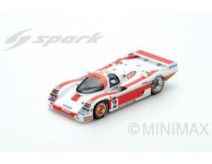 Spark Model S5509 PORSCHE 962 C N.2 ACCIDENT LM 1987 O.LARRAURI-U.SCHAFER-J.PAREJA 1:43 Modellino