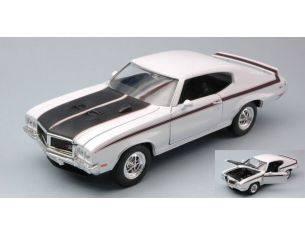 Welly WE22433W BUICK GSX 1970 WHITE W/BLACK STRIPES 1:24 Modellino