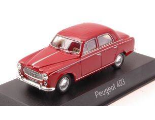 Norev NV474331 PEUGEOT 403 1963 RUBIS RED 1:43 Modellino