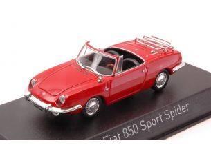 Norev NV778508 FIAT 850 SPORT SPIDER 1968 RED 1:43 Modellino