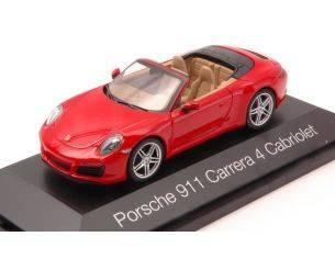 Herpa HP7110 PORSCHE 911 CARRERA 4 CABRIO RED 1:43 Modellino