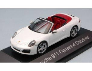 Herpa HP7111 PORSCHE 911 CARRERA 4 CABRIOLET WHITE 1:43 Modellino