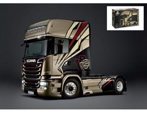 Kit automezzi kit di montaggio 1 24 italeri it3930 scania for Interieur camion scania