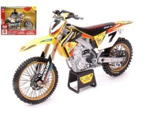 New Ray NY57673SS SUZUKI RMZ 450 N.7 MONSTER CUP CHAMPION 2013 JAMES STEWART 1:12 Modellino