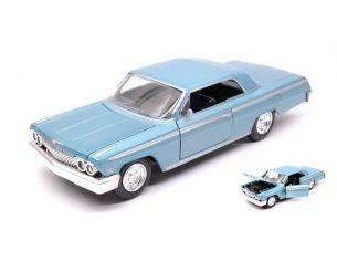 New Ray NY71843BL CHEVROLET IMPALA SS 1962 LIGHT BLUE METALLIC 1:24 Modellino