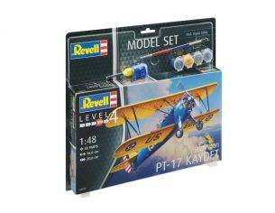 Revell RV63957 STEARMAN PT-17 KAYDET MODEL SET KIT 1:48 Modellino