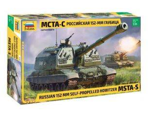 Zvezda Z3630 RUSSIAN MSTA 2S19M2 SELF PROPELLED GUN 152 mm KIT 1:35 Modellino