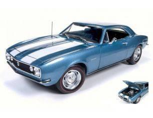 Auto World AMM1101 CHEVY CAMARO Z28 50th ANNIVERSARY NANTUCKET BLUE 1:18 Modellino