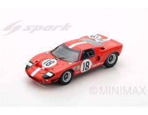 Spark Model S5178 FORD GT40 N.18 DNF LM 1967 U.MAGLIOLI-M.CASONI 1:43 Modellino