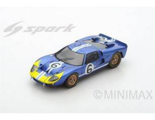 Spark Model S5182 FORD MK2 N.6 RETIRED LM 1966 M.ANDRETTI-L.BIANCHI 1:43 Modellino