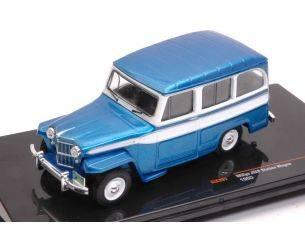Ixo model CLC261 JEEP WILLYS STATION WAGON 1960 MET.BLUE/WHITE 1:43 Modellino