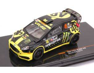 Ixo model RAM603 FORD FIESTA RS WRC N.46 RALLY MONZA 2014   V.ROSSI-C.CASSINA 1:43 Modellino