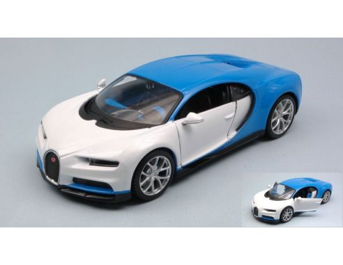 maisto mi32509 bugatti chiron 2016 white blue 1 24 modellino mod les r duits de collection. Black Bedroom Furniture Sets. Home Design Ideas