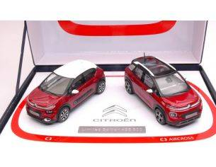 Norev NV155329 COFFRET CITROEN C3 & C3 AIRCROSS 2017 LIMITED ED.500 PCS (2 CARS) 1:43 Modellino
