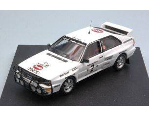 Trofeu TF1627 AUDI QUATTRO N.2 RETIRED RALLY BANDAMA 1983 L.LAMPI-O.HARSCH 1:43 Modellino