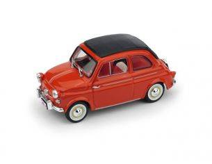 Brumm BM0377-02 FIAT 500 AMERICA 1958 CHIUSA (TARGA NEW YORK) ROSSO 1:43 Modellino