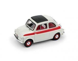 Brumm BM0604 FIAT 500 1959 TETTO APRIBILE SPORT 2a SERIE CHIUSA BIANCO/ROSSO 1:43 Modellino