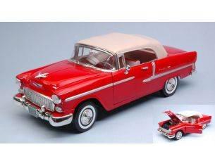 Motormax MTM73184RD CHEVY BEL AIR 1955 RED 1:18 Modellino