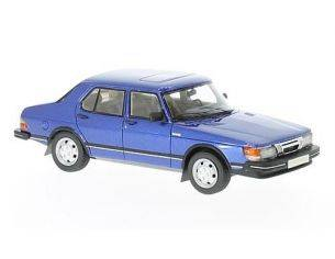 Neo Scale Models NEO43652 SAAB 900 GLI 4-DOORS 1981 METALLIC BLUE 1:43 Modellino